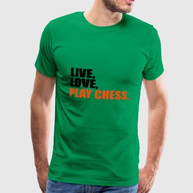 2541614 15412473 Chess - Premium-T-shirt herr