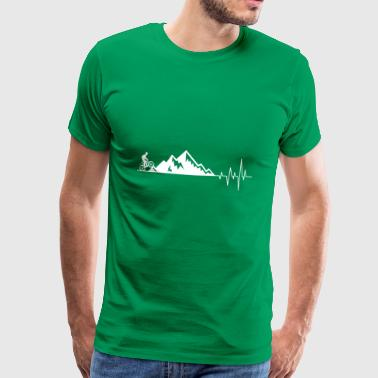Heartbeat mountains bicycle - Men's Premium T-Shirt
