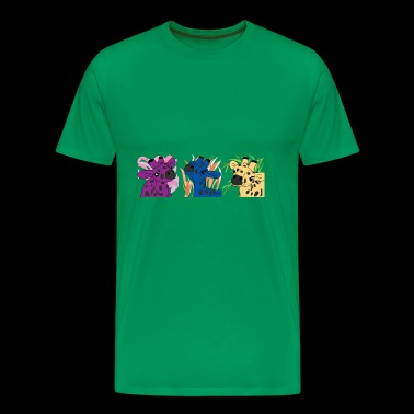Giraffe Trio Pop Art - Premium T-skjorte for menn