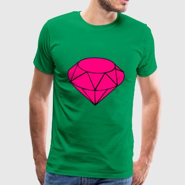 Diamant rose - T-shirt Premium Homme