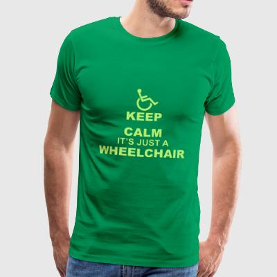 KeepCalmWheelchair - T-shirt Premium Homme