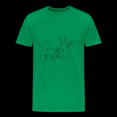 Fuck hand sign - Men's Premium T-Shirt