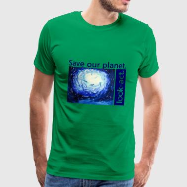 Save our planet. Underwater world. - Men's Premium T-Shirt