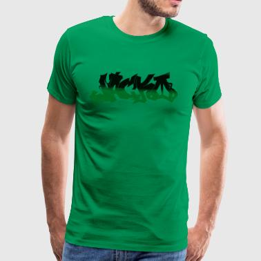 Street style Black / Green - Men's Premium T-Shirt