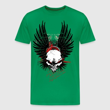 Cyber Punk Winged Skull - Men's Premium T-Shirt