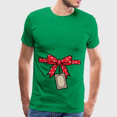 Cute red bow with tags - Men's Premium T-Shirt