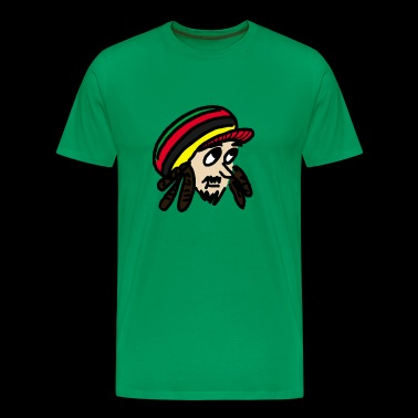 Rastafari head with dreadlocks and cap colored - Men's Premium T-Shirt