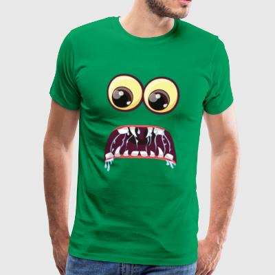 Scared Monster Eyes - Mannen Premium T-shirt