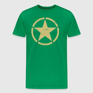 Distressed Army WWII T-shirt - Men's Premium T-Shirt