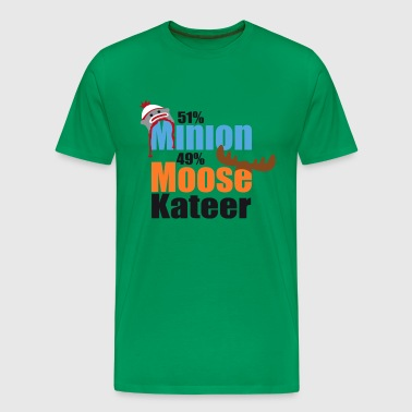 51% Minion 49% MooseKateer - Men's Premium T-Shirt