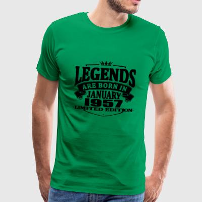Legends are born in january 1957 - Men's Premium T-Shirt