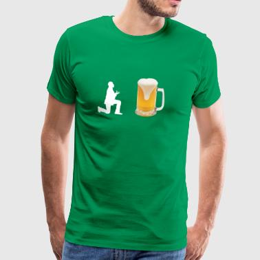 Öl - öl fan - Bierfreund - Gift Craft Beer - Premium-T-shirt herr