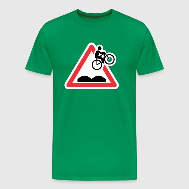 mtb caution sign - Men's Premium T-Shirt