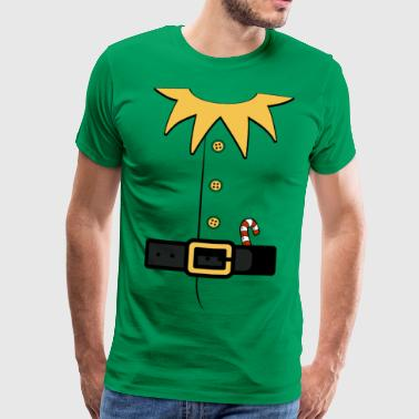 Santa's Elf Costume Bad button - Men's Premium T-Shirt