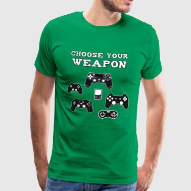 Weapon Console Play Station Gamer Nerd computer pc - Men's Premium T-Shirt