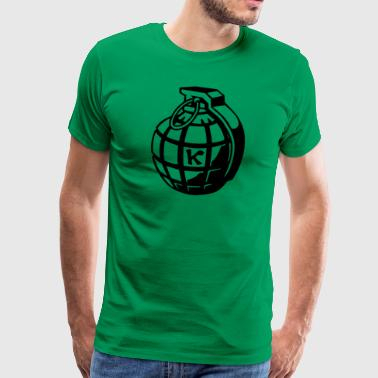 Hand grenade grenade as a gift idea - Men's Premium T-Shirt