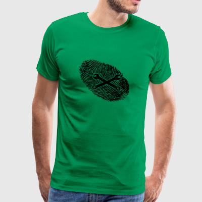 fingerprint dns dna gift mechatronic schra - Men's Premium T-Shirt