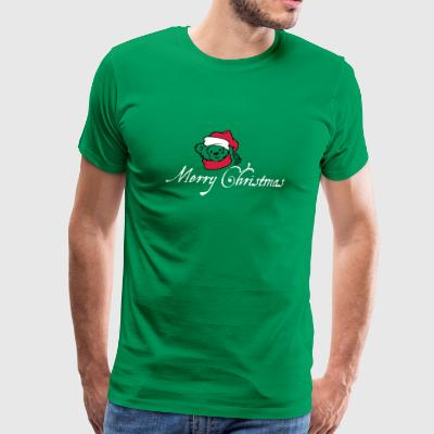 Merry Christmas! sweet teddy bear Christmas winter - Men's Premium T-Shirt