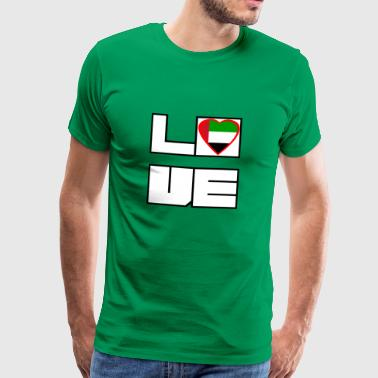Love Roots De forente arabiske emirater - Premium T-skjorte for menn