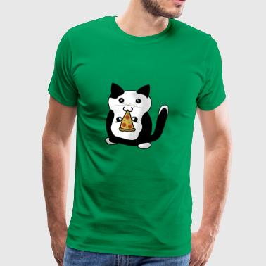 Pizza-Cat - Männer Premium T-Shirt