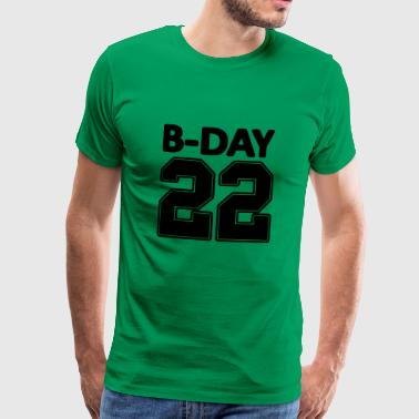 22nd birthday bday 22 number numbers jersey number - Men's Premium T-Shirt
