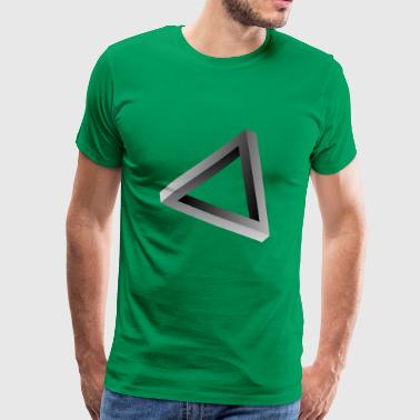Illusion d'optique triangle impossible - T-shirt Premium Homme