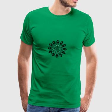 mandala black and white - Männer Premium T-Shirt