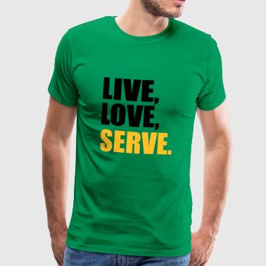 2541614 14918902 serve - Männer Premium T-Shirt