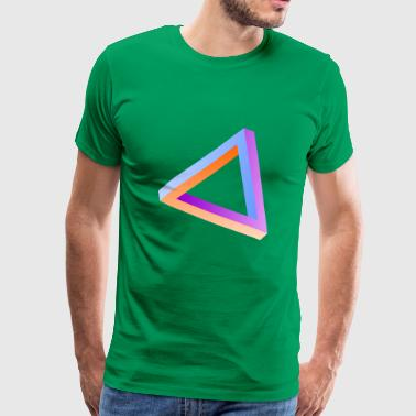 Impossible triangle optical illusion - Men's Premium T-Shirt