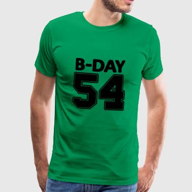 Number 54, 54th birthday number - Men's Premium T-Shirt