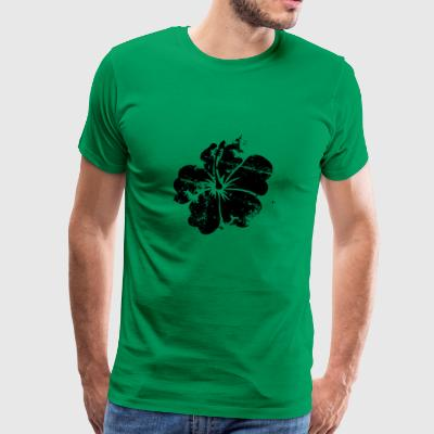 Flower - Hawaii - Vintage - Herre premium T-shirt