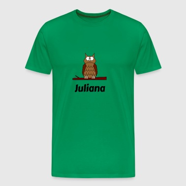 Children's school Born owl motif Juliana - Men's Premium T-Shirt