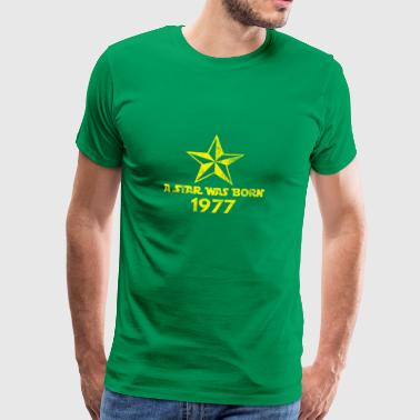 Star Was Born 1977, vintage, birthday present - Men's Premium T-Shirt