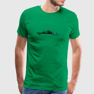 Heartbeat London T-Shirt Gift England Metropol - Men's Premium T-Shirt