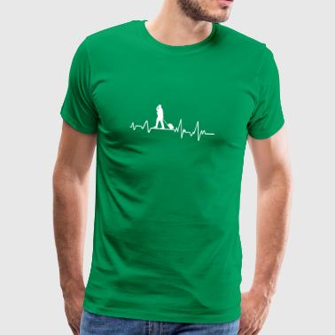 Heartbeat traveler t-skjorte gave Journeys Land - Premium T-skjorte for menn