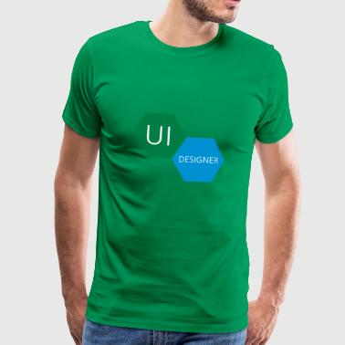 UI User Interface Designer - Mannen Premium T-shirt