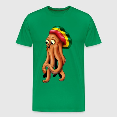 rasta squid cthuhlu - Men's Premium T-Shirt