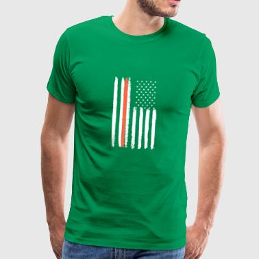 Irish American Flag Heritage Pride St. Patricks - Men's Premium T-Shirt