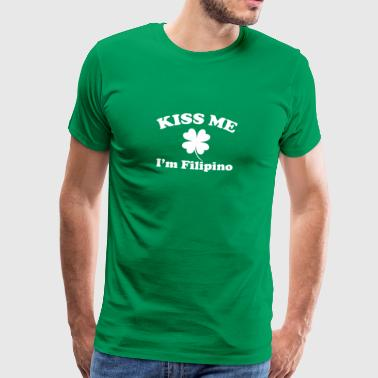 Kiss Me I'm Filipino Clover St Patricks Day - Men's Premium T-Shirt