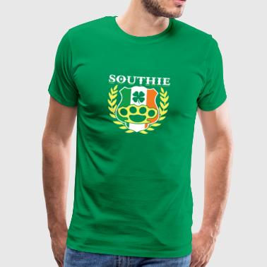Southie Brass Knuckle Iren-Flagge St. Patricks Day - Männer Premium T-Shirt