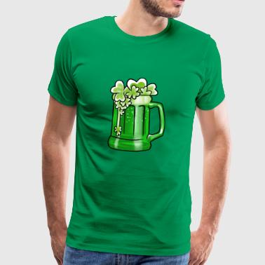 Flying Shamrocks Beer St Patrickin Drunk Day - Miesten premium t-paita