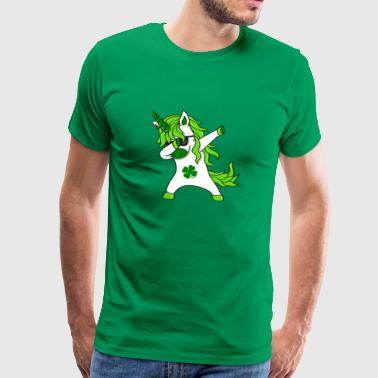 St Patricks Day Lepricorn - badda Unicorn - Premium-T-shirt herr