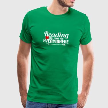 READING - READING - READING - NERD - BOOKS - BOOK - Men's Premium T-Shirt