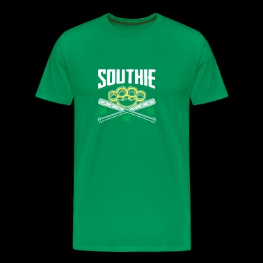 Southie Baseball Bats Brass Knuckle Fist - Men's Premium T-Shirt