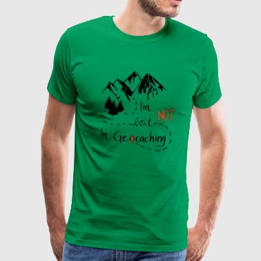 Geocaching Mountains Natur Vandring - stor gave - Herre premium T-shirt