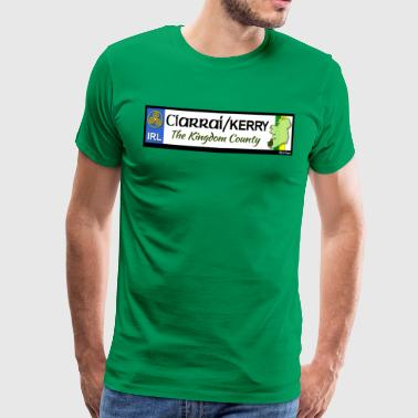 CO. KERRY, IRELAND: licence plate tag style decal - Men's Premium T-Shirt