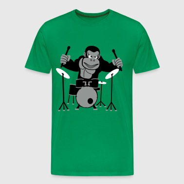 Drumming Gorilla - Men's Premium T-Shirt