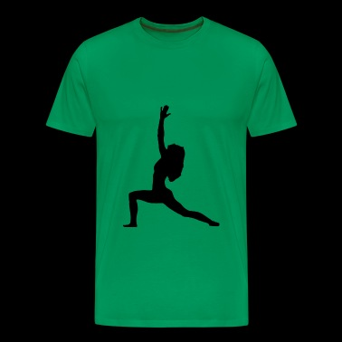 Yoga Warrior 1 Asana Pose - Men's Premium T-Shirt
