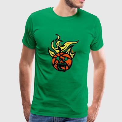 basketball cartoon0 face flamme langue f - T-shirt Premium Homme