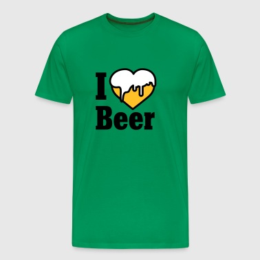I love Beer | Heart | Beer - T-shirt Premium Homme